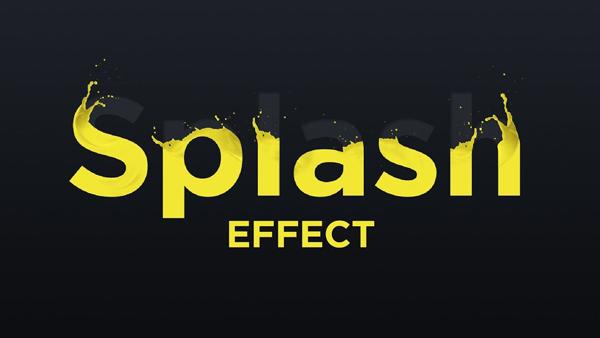 Create a Splash Text Effect in Photoshop Tutorial