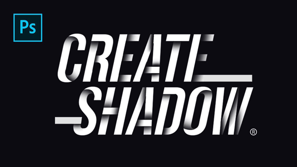 How To Create Drop Shadow on Text Line - Photoshop Tutorials