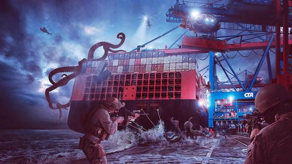 Create Epic Kraken Attack Scene in Photoshop Tutorial
