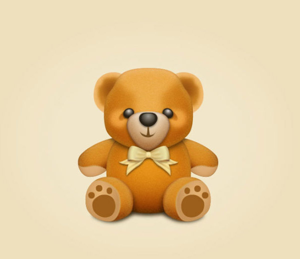 How to Create a Teddy bear Character in Illustrator Tutorial