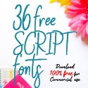 Post thumbnail of 36 Free Script Fonts for Graphic Designers