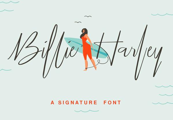 Billie Harley Signature Free Font