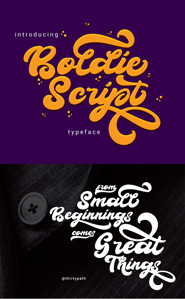 Boldie Free Script Font