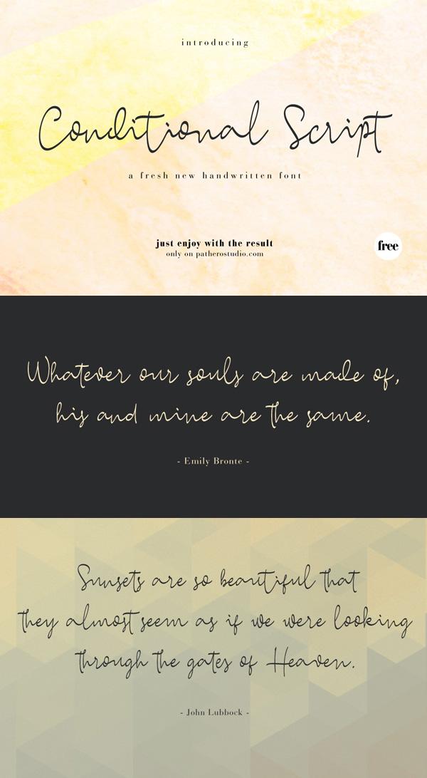 Conditional  Free Script Font