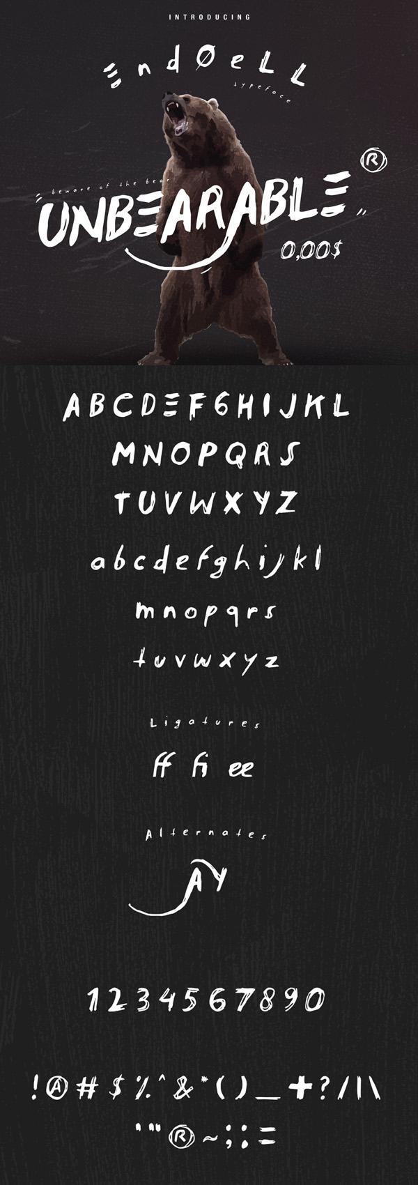 Endoell Free Vintage Font