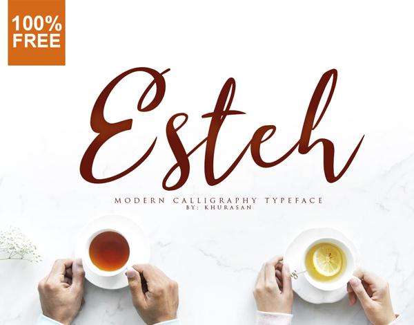 Esteh Script Free Font