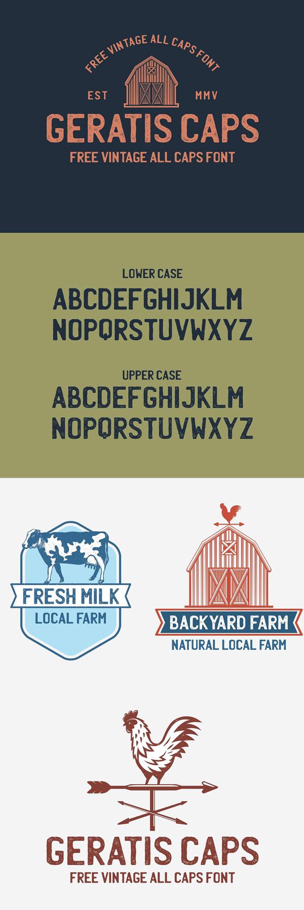 Geratis Free Vintage Font