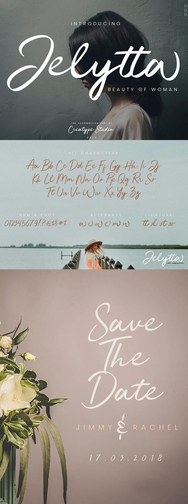 Jelytta  Free Script Font