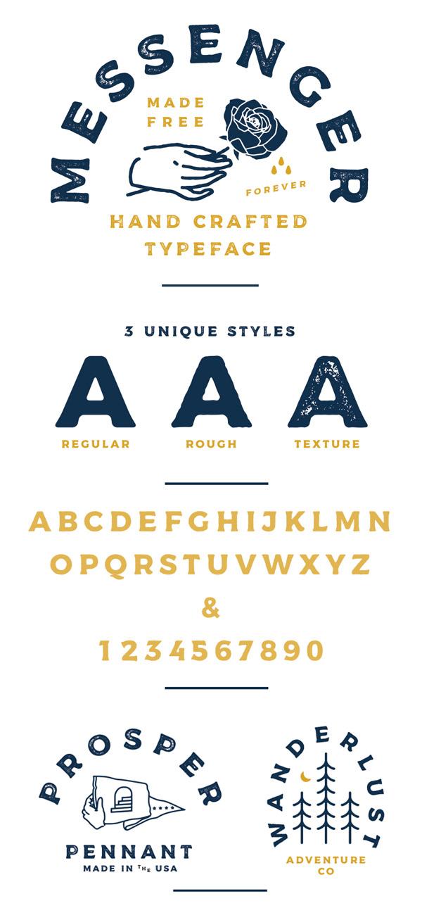 Messenger  Free Vintage Font