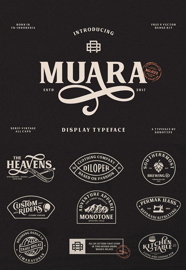 Muara  Free Vintage Font