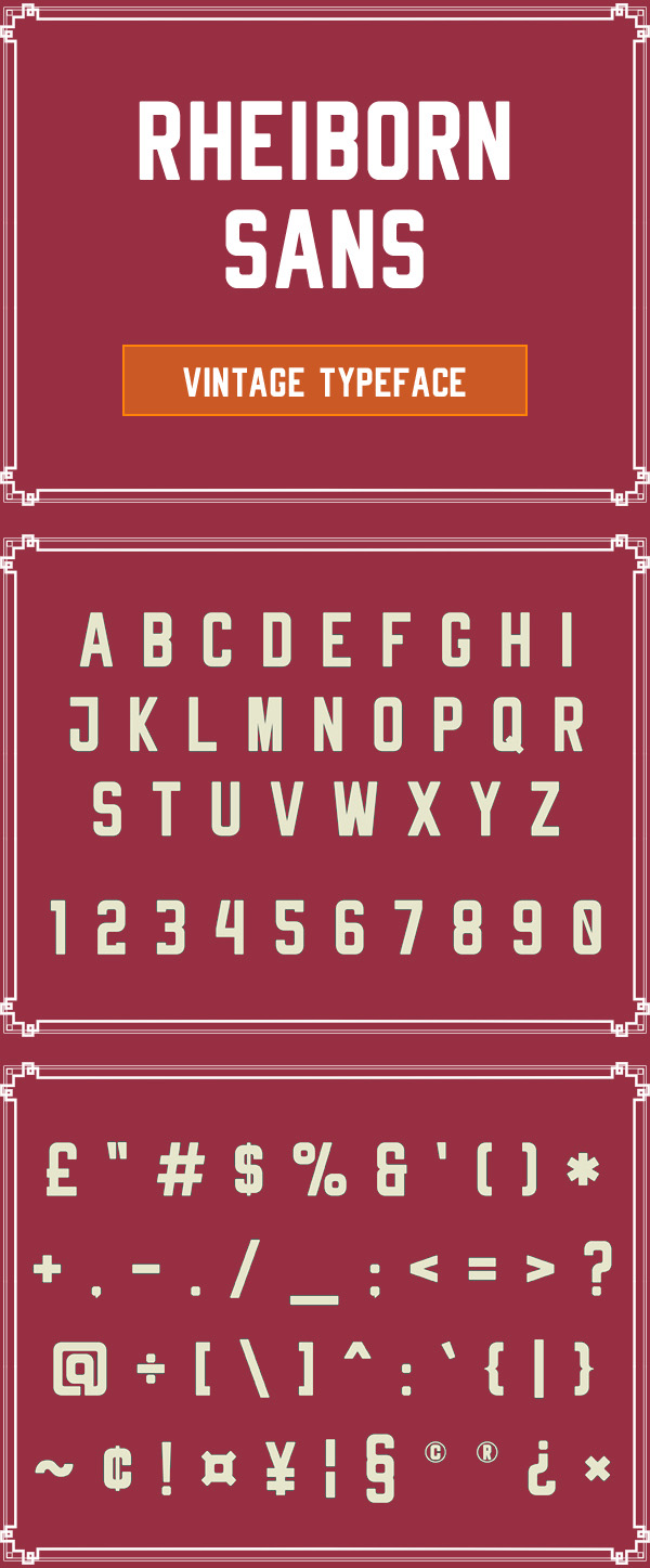 Rheiborn Sans  Free Vintage Font