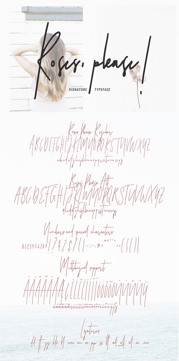 Roses  Free Script Font