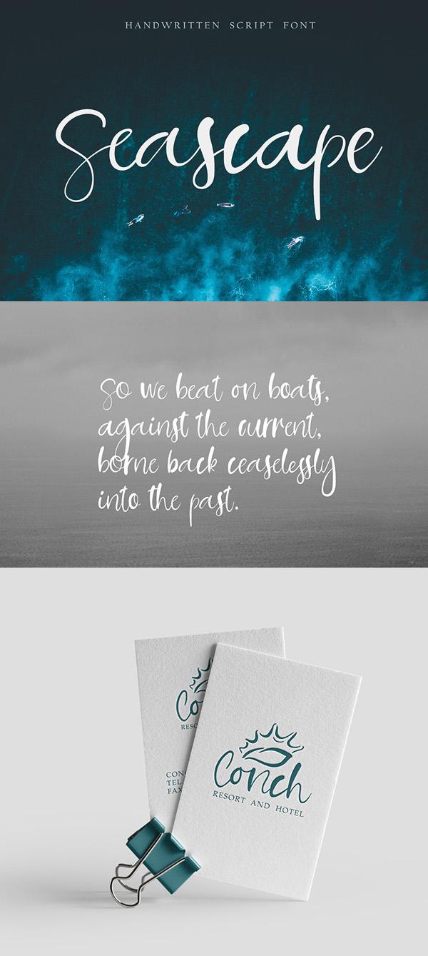 Seascape  Free Script Font