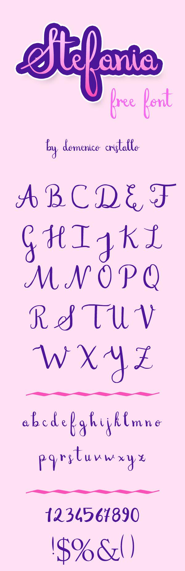 Stefania  Free Script Font
