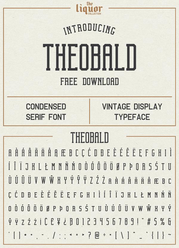 Theobald  Free Vintage Font