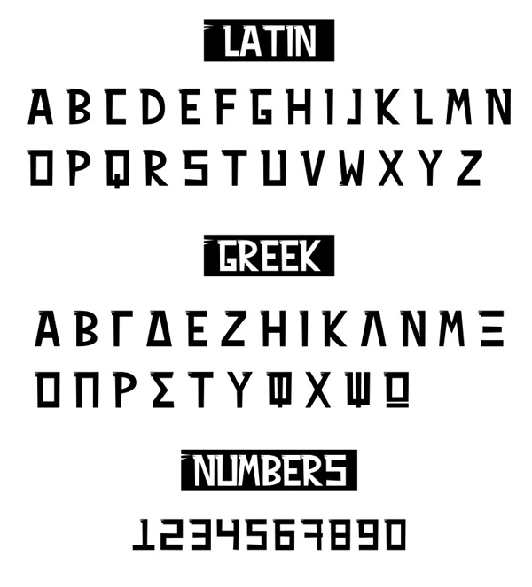 VAVOURA Free Font Letters and Numbers