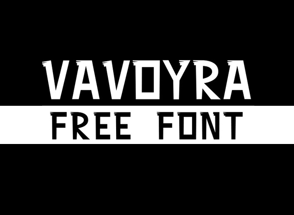 VAVOURA Free Font