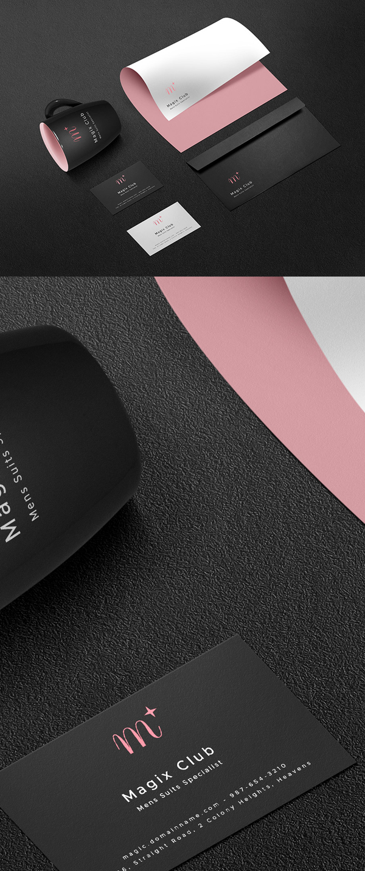 Free Dark Branding PSD Mockup Template