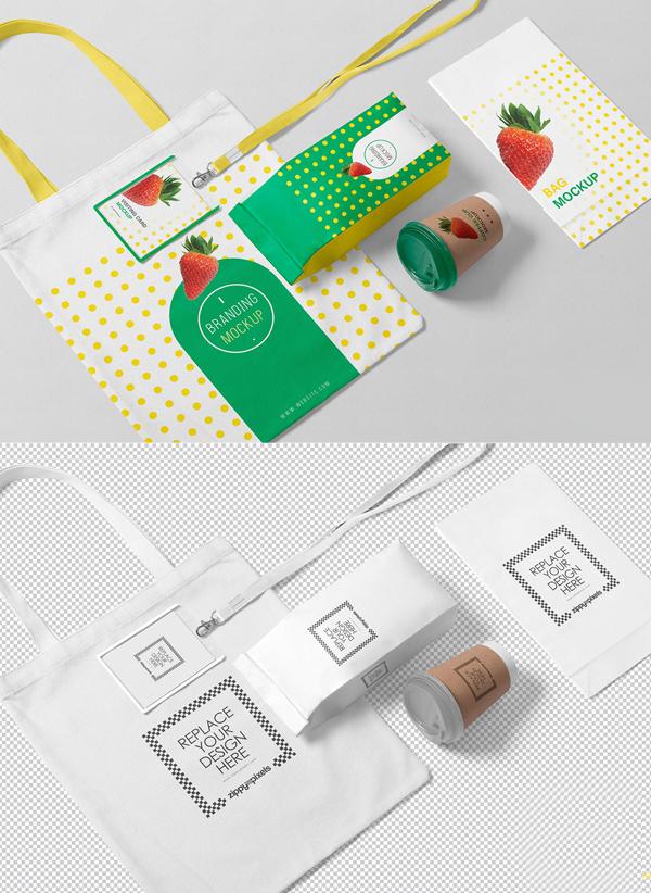 Free Packaging Mockup Scene