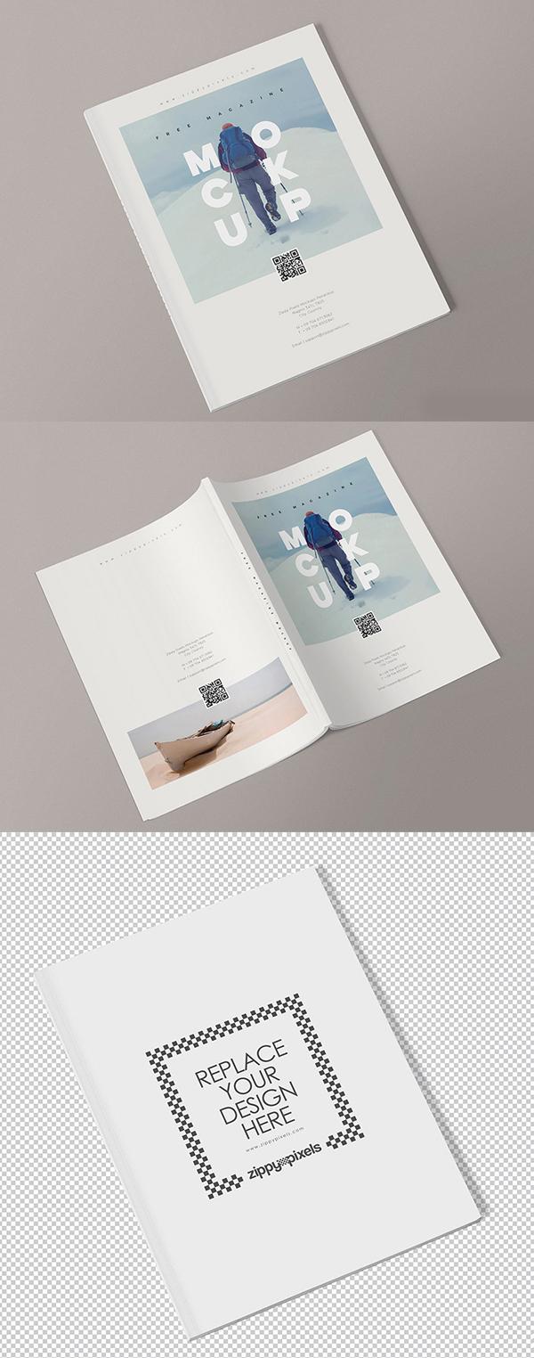 Magazine Mockup Templates Free Download PSD