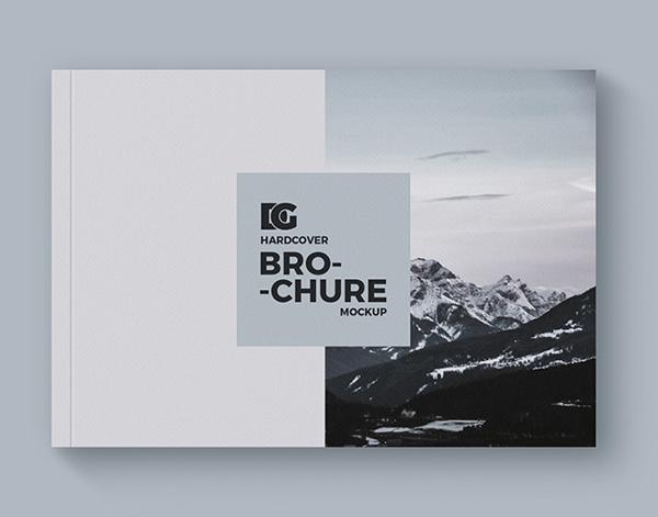 Hardcover Brochure Mockup Design Download Free PSD