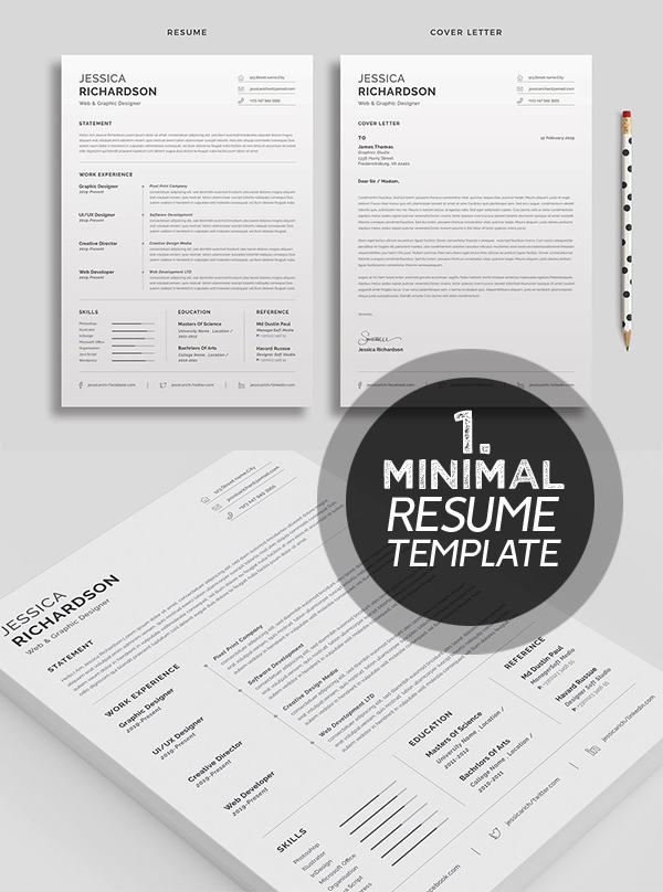 Professional & Clean Resume / CV Word Template