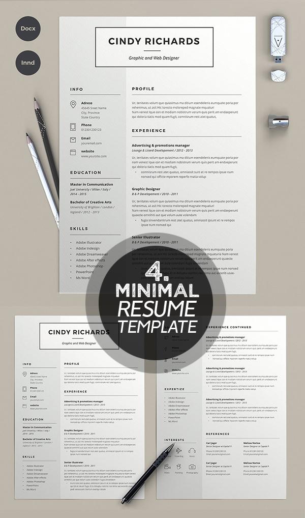 Cindy rechards minimal resume template