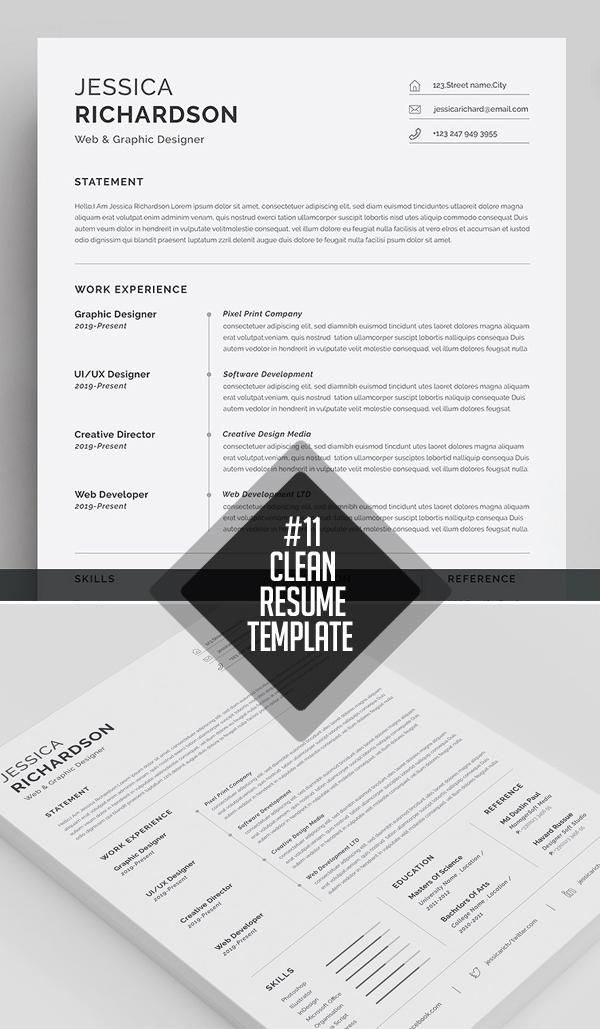 Professional & Clean Resume / CV Template