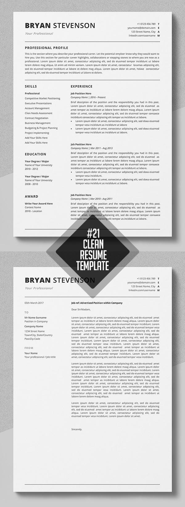 Professional Resume / CV Template