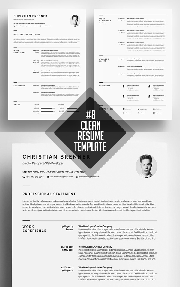 Minimalism Resume Template