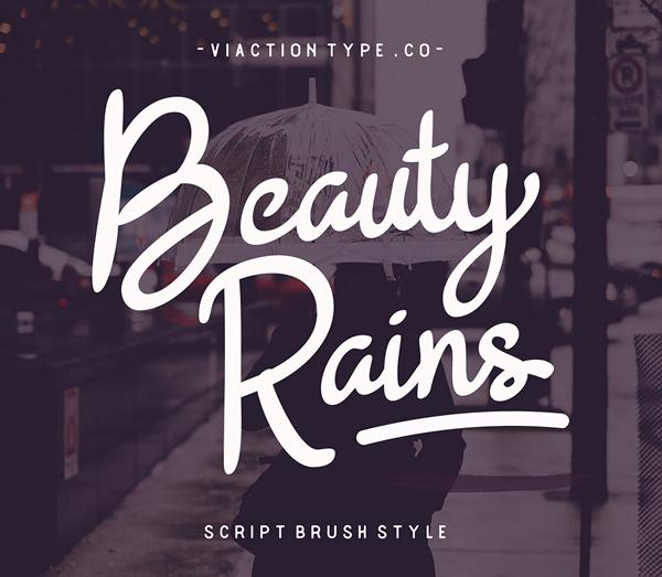Beauty Rains Script Brush Free Font