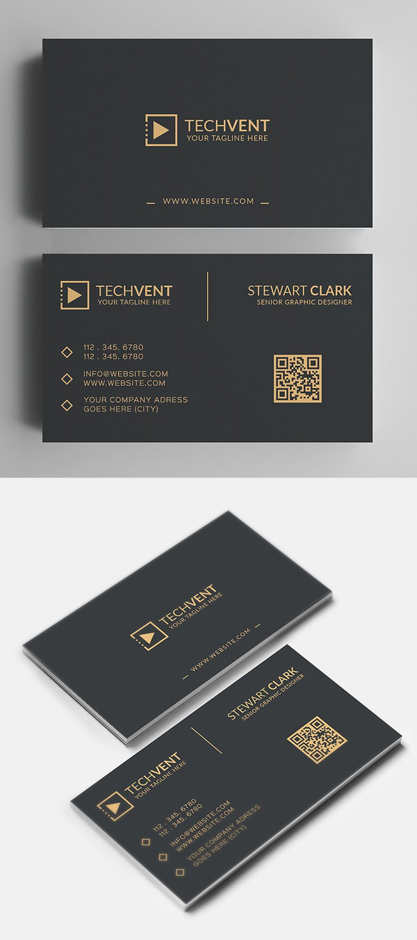 Gold Minimal Business Card
