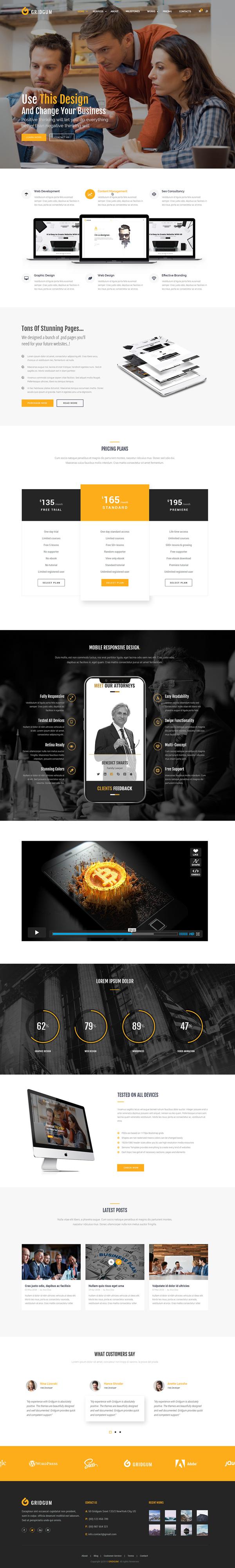 Free Business Website Template (Responsive Design)