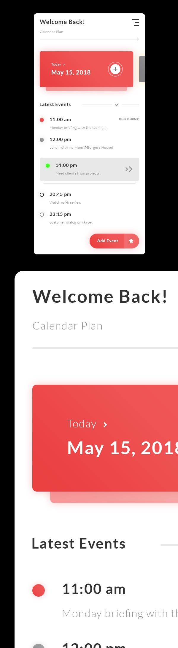 Free Calendar Plan - Tasks Events App