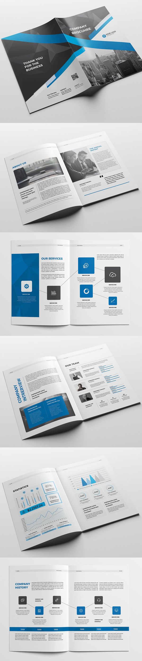 Professional, Clean and Modern Company Brochure Template