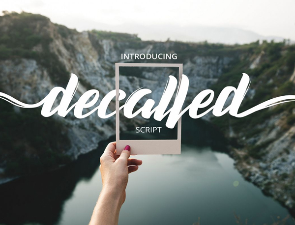 Decalled Script Free Font