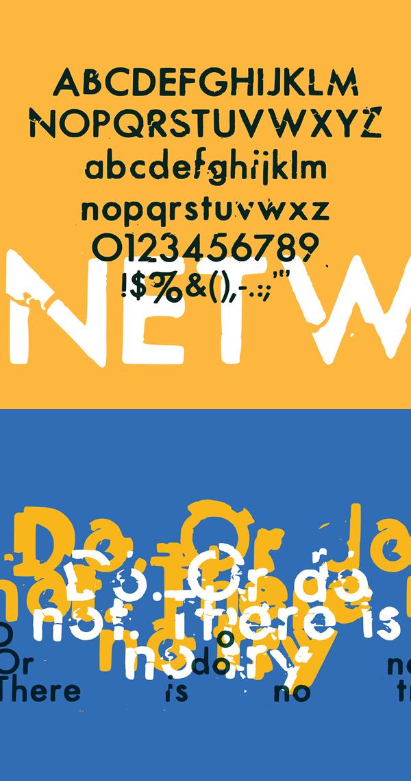 DryTransfer Futura Medium Font Letters