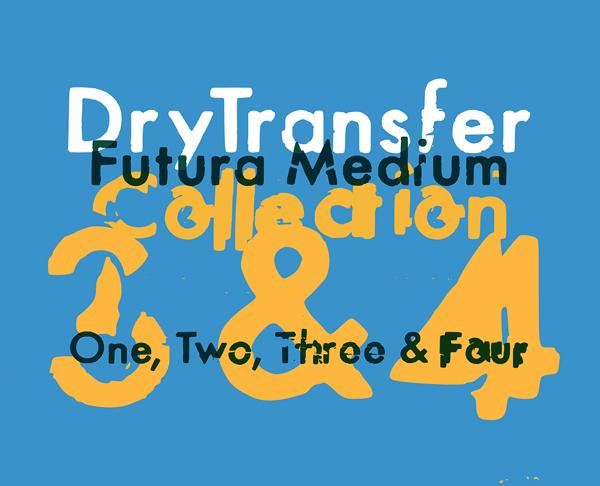 DryTransfer Futura Medium Free Font