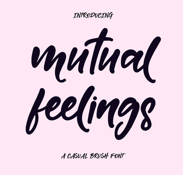 Mutual Feelings Free Font