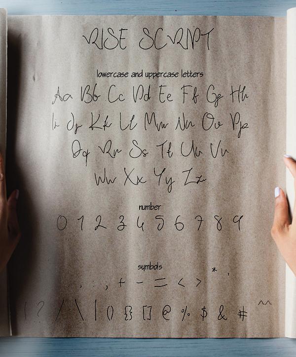 Rise Font Letters