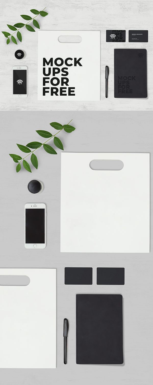 Free Stationary Pack Mockup Template