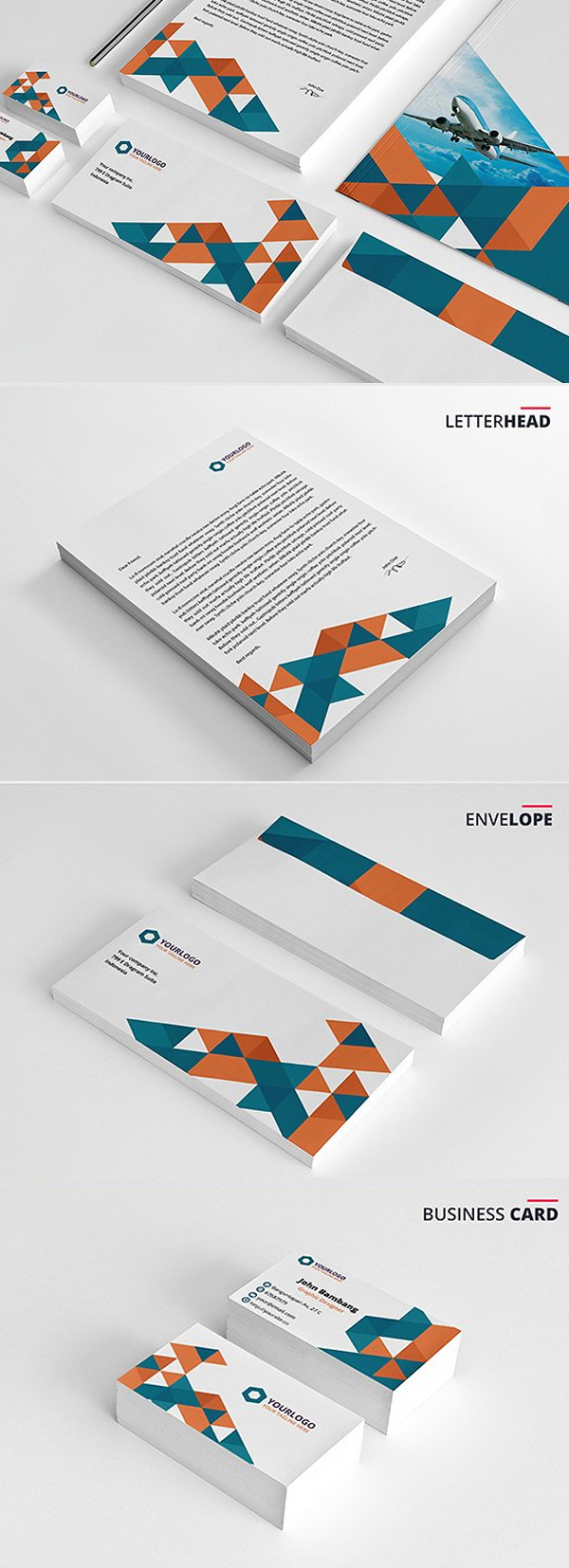 Modern Business Branding / Stationery Templates Design - 14