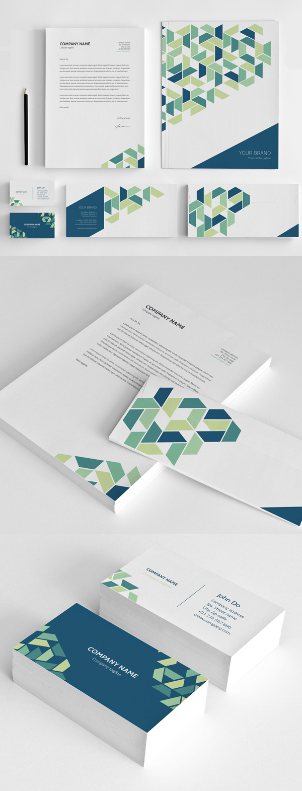 Modern Business Branding / Stationery Templates Design - 5