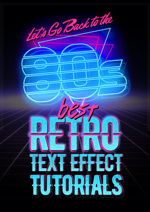 Best 80's Retro Text Effect Photoshop Tutorials