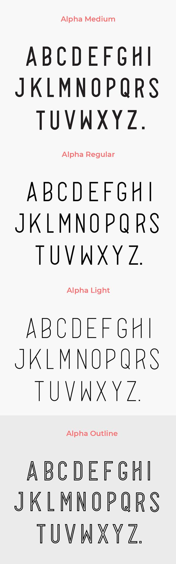 Alpha Font Letters