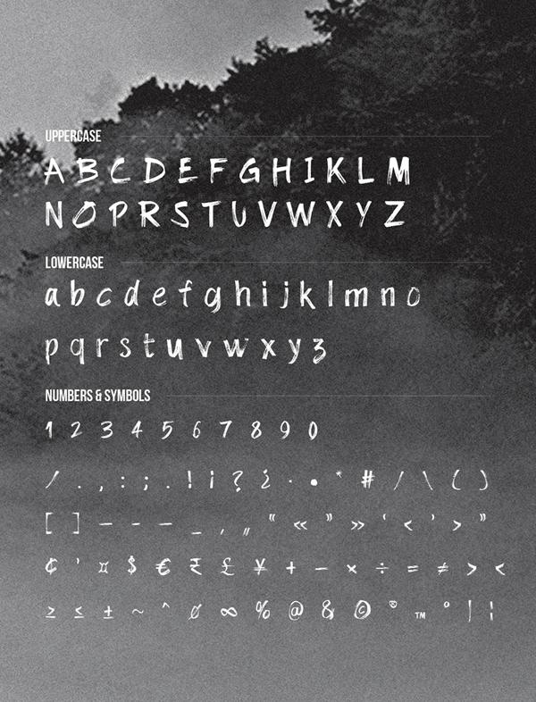 Dolbak Brush Font Letters