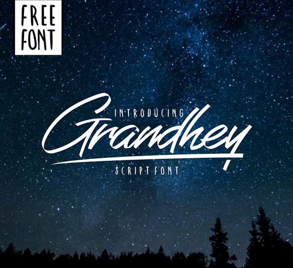 Grandhey Script Free Font