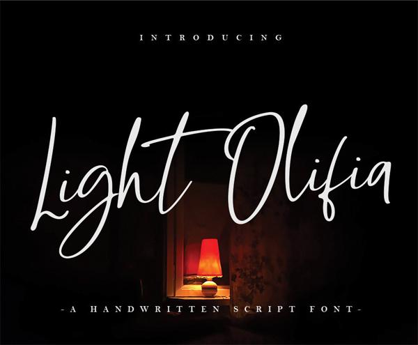 Light Olifia Script Free Font