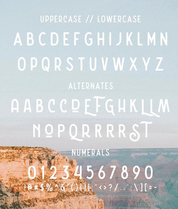 Nature Spirit Font Letters