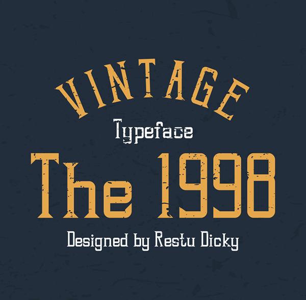 The 1998 Vintage Free Font